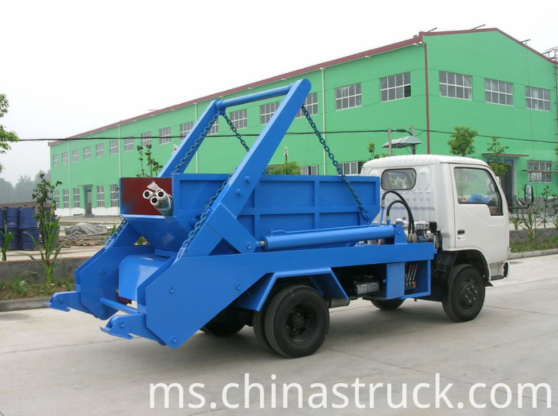 3Ton swing arm rubbish truck