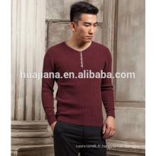 Chandail à tricoter en cachemire 2016 mode hommes