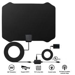 Yetnorson 60 Mile Range Indoor Amplified HDTV Antenna