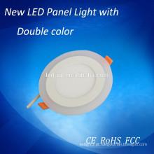Luzes de painel led redondas de cor dupla 5w