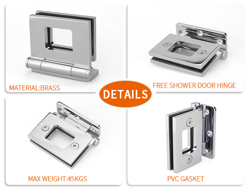 glass shower door pivot hinge hardware