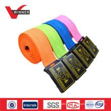 2015 Custom Fashion Polyester Canvas Webbing Belt Fabricante