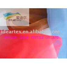 Poliéster / Nylon tecido de Organza para estofos