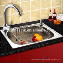 O agregado familiar Topmounted ou o comercial usaram a bacia de lavagem de aço inoxidável, banca da cozinha
