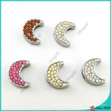 Encantos de cristal da lua de slides para encantos pulseira diy (sc16041908)