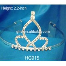 Fábrica profesional de la fabricación directamente corona de la flor de la tiara