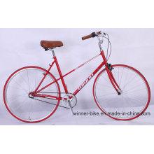 Bicicleta urbana da estrada da bicicleta da cidade do vintage retro do quadro de Cro-Moly