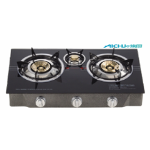 Tempered Glass Three Burners Table Gas Stove