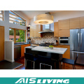 L Shaped Wooden Kitchen Cupboards Furniture (AIS-K297)