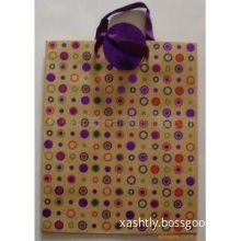Twisted Paper Handle Coated Paper Recyclable Kraft Gift Paper Bag For Shopping