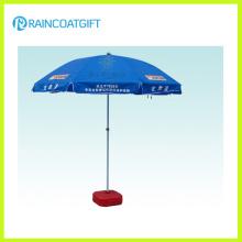 Guarda-chuva de praia ao ar livre do PVC do poliéster para a promoção