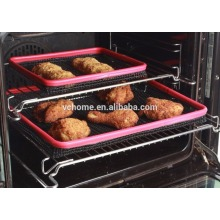 2015 New customer Hot sale Environmentally Heater resistant non-sticky PTFE teflon mesh cooking mat