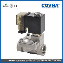 DC 12V Hot water hot oil stainless steel solenoid valve for air