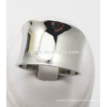 Big wide Curved steel metal finger ring design for men and women