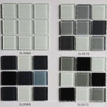 Decoração de mosaico de parede Mosaico de cor cinza