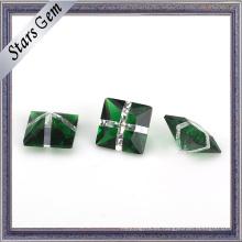 Venta al por mayor de la piedra preciosa de la moda del vidrio verde y del color blanco