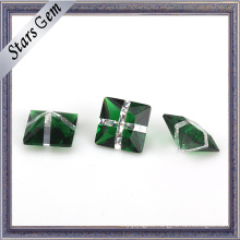 Wholesale Green Glass and White Color Fashion Gemstone