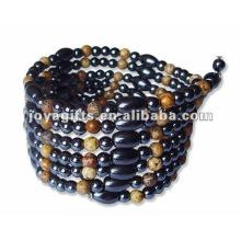 "Magnetic Beaded Wrap Bracelets & Collier 36 """