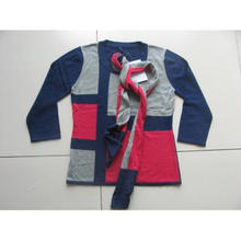 FHL-0028 lady intarsia pullover with scarf