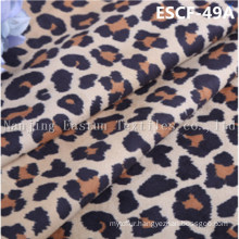 Print and Golden-Plating  Suede Fabric Escf-49A
