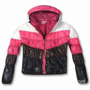 Ladies' Coat, 4-Color Combination, White, Pink, Grey and Black