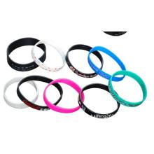Pulseras del silicón de la manera Pulseras del brazalete de los brazaletes del OEM en Colorfull