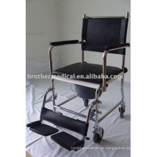 Cadeira de Commode de aço em pó revestido (opção cromada)