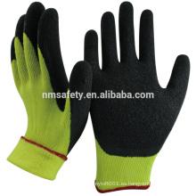 NMSAFETY guantes de invierno personalizados recubiertos de látex