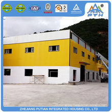 Fast installed C type purlin steel structure factory building