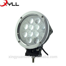 12*5W LED 60W Round LED Work Light Fog Lamp For Off-road Jeep SUV ATV Truck