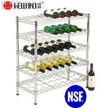 Flat Red Wine Rack de magasin de fil d'acier (WR7535150A5C)