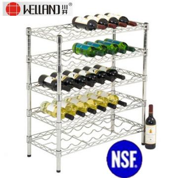 Flat Red Wine Rack de exibição de fio de aço (WR7535150A5C)