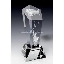 Amerikanische Spirit Crystal Award Trophäe (SPR7)