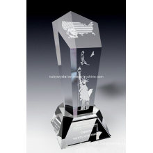 American Spirit Crystal Award Trophy (SPR7)