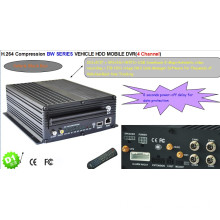 WKP 4CH HDD Vehicle Mobile DVR BW Series Video Surveillance Car Security Products 3G WIFI GPS
