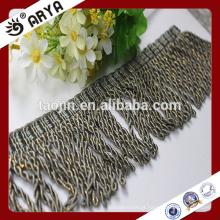 Curtain Trims Grey Beaded Tassel Fringe para Cortina Acessório, Hangzhou Fabricante
