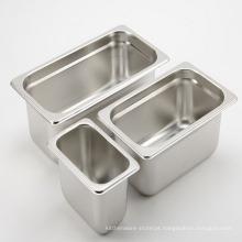O recipiente de alimento de aço inoxidável Gastronome distribui a bandeja sem redução do gn