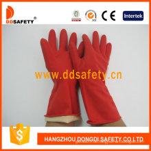 Roter Latexhaushalt Handschuh -DHL301