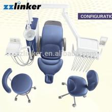 CE genehmigt echtes Leder LED Betrieb Lampe Dental Einheit Suntem ST-D570
