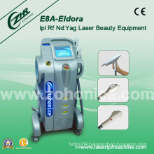 E8a Elight (IPL+RF) +RF +ND YAG Laser Tattoo Removal Machine
