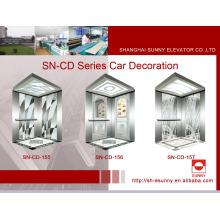 Cabine d'ascenseur avec plafond d'éclairage acrylique blanc (SN-CD-155)