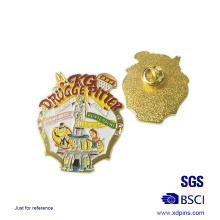 Die Struck Carnival Soft Enamel solapel Pin for Promotion