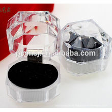 "elegante ture love crystal jewllery box ""Para casar com ele"""