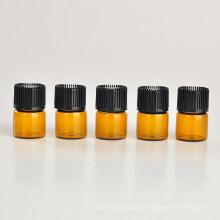 Botella de aceite esencial de vidrio marrón 1ml (NGB1141)
