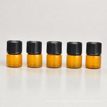 Bouteille d'huile essentielle en verre brun 1 ml (NGB1141)