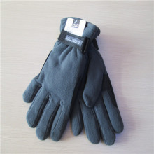 Hot Selling Winter Buckle Black Men Fleece Gloves