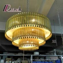 Pendentif décoratif en métal / lampe accrochante pour le projet d'hôtel