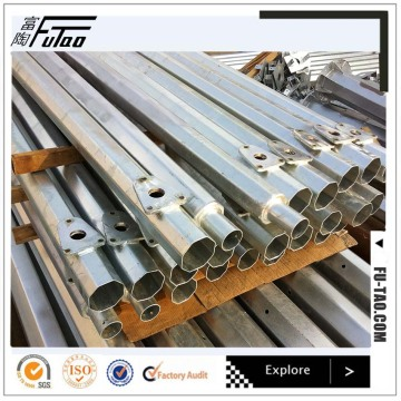10M Galvanized Metal Round Taper Steel Pole