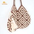 Handmade Women Shoulder Macrame Crochet Bags Handbags