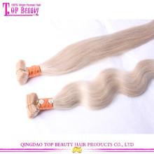 Top Grade vente chaude blonde 613 bande de cheveux extensions pas cher remy peau bande de trame dans les extensions de cheveux